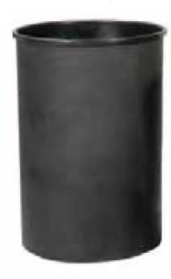 Witt 55LBK-R 25-gal Half Round Rigid Trash Can Liner, Plastic - Black