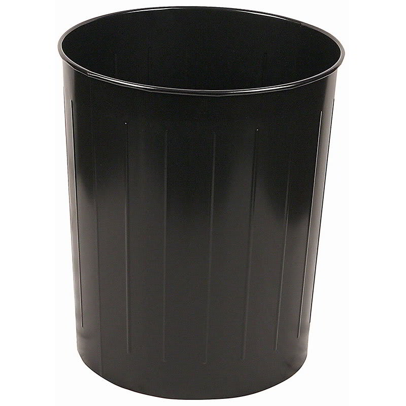 Witt 5BK 49.6-qt Round Waste Basket - Metal, Black