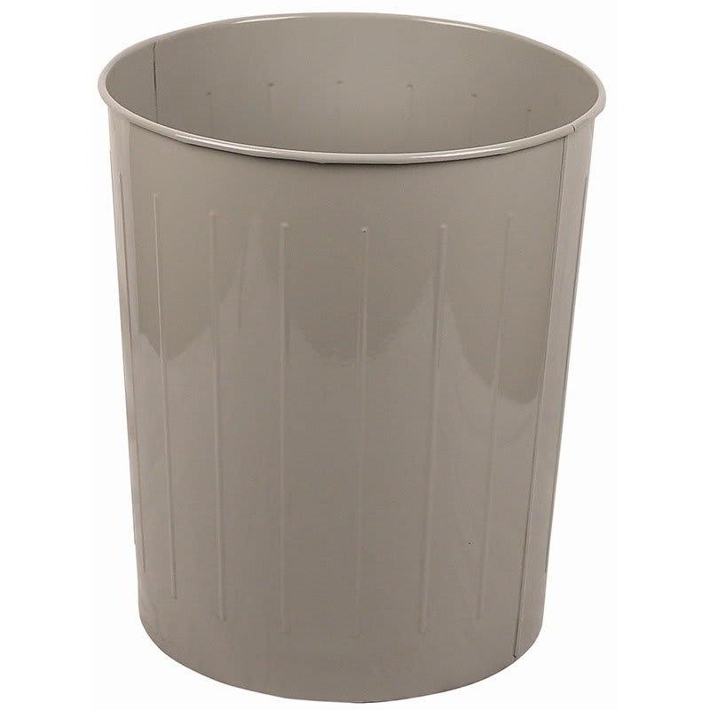 Witt 5SL 49.6-qt Round Waste Basket - Metal, Slate