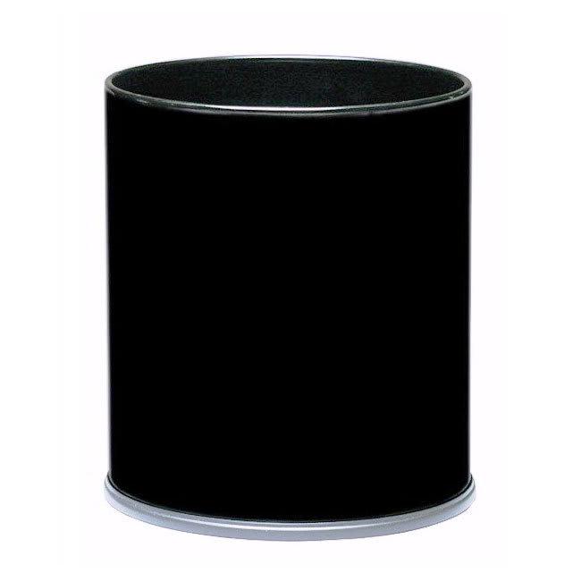 Witt 66BK 4 gal Indoor Decorative Trash Can - Metal, Black