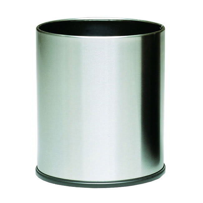 Witt 66SS 4-gal Indoor Decorative Trash Can - Metal, Stainless Steel