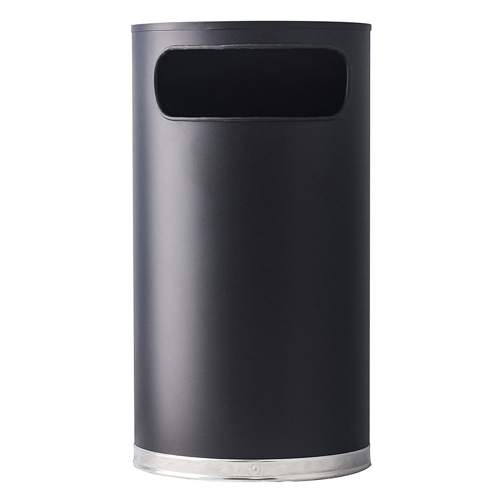 Witt 9HR-BK 9 gal Indoor Decorative Trash Can - Metal, Black