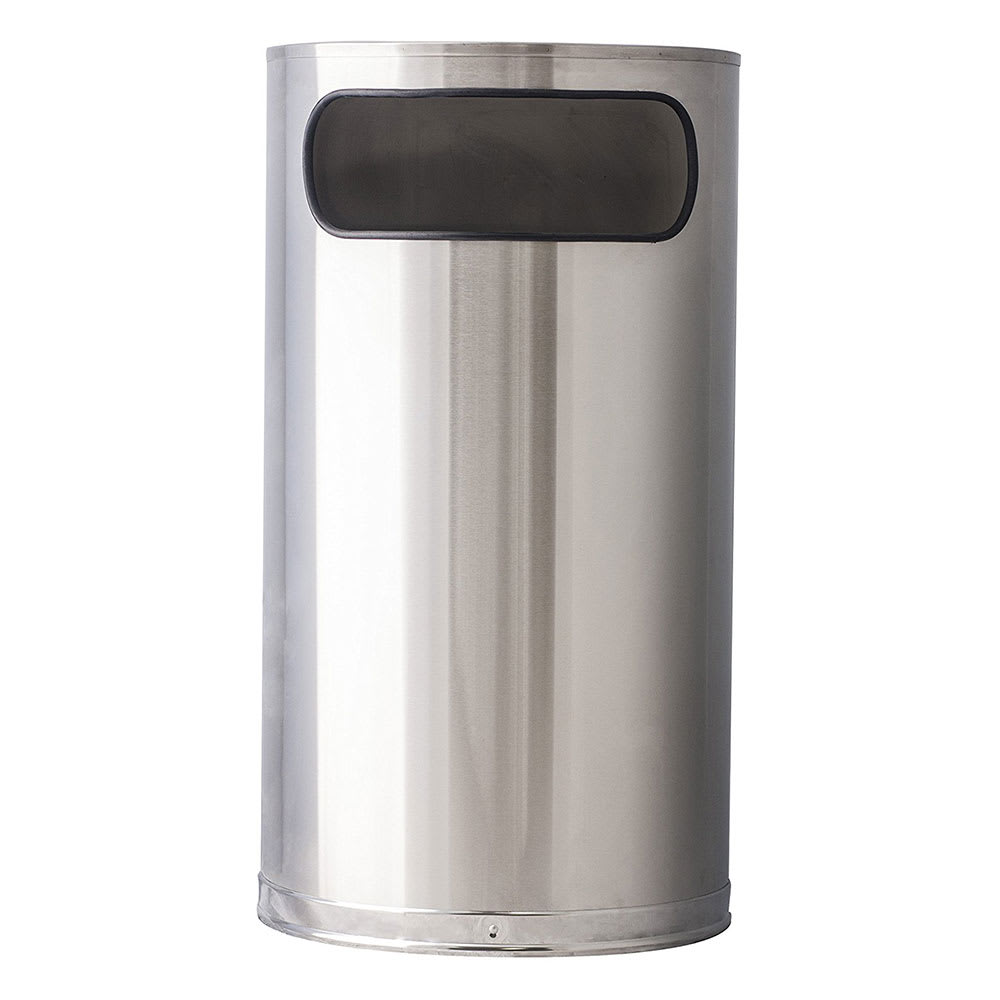 Witt 9HR-SS 9 gal Indoor Decorative Trash Can - Metal, Stainless Steel