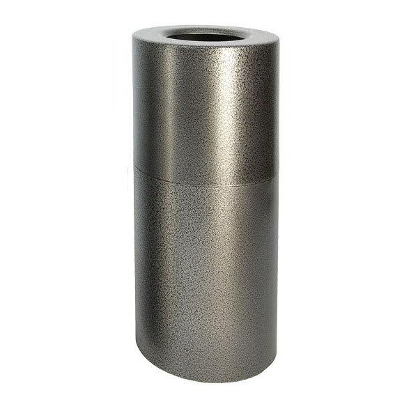 Witt AL18-SVN 24-gal Indoor Decorative Trash Can - Metal, Silver