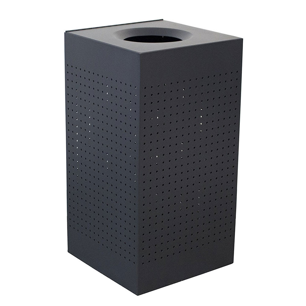Witt CL25-BK 25 gal Indoor Decorative Trash Can - Metal, Black