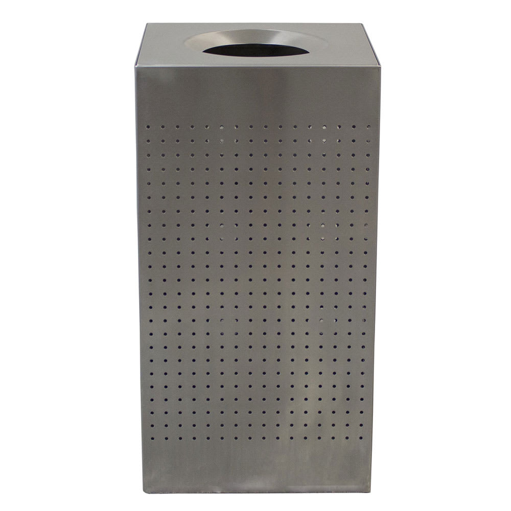 Witt CL25-SS 25-gal Indoor Decorative Trash Can - Metal, Brushed Stainless