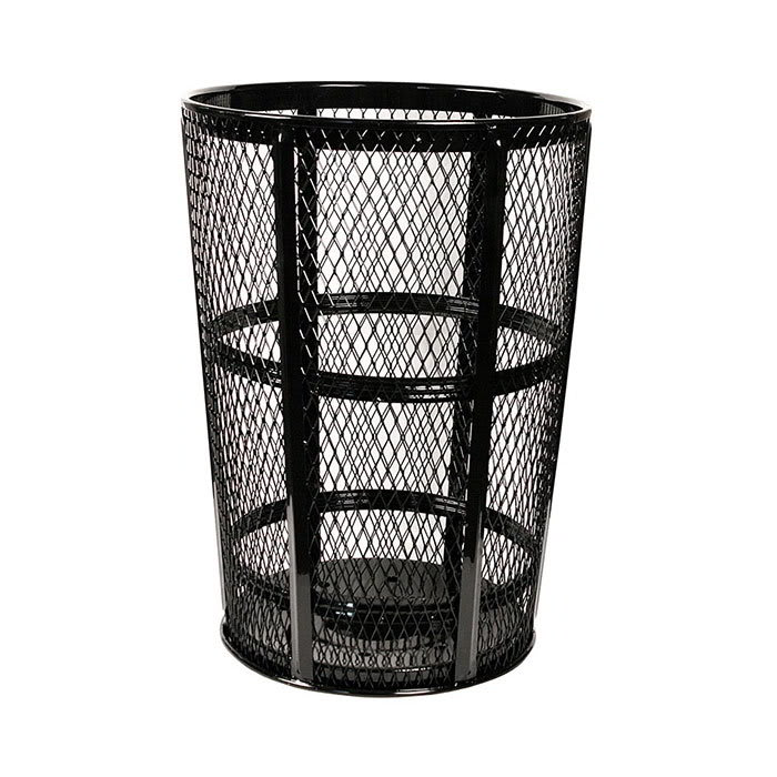 Witt Exp 52bk 48 Gallon Outdoor Trash Can W See Through Mesh Black Finish
