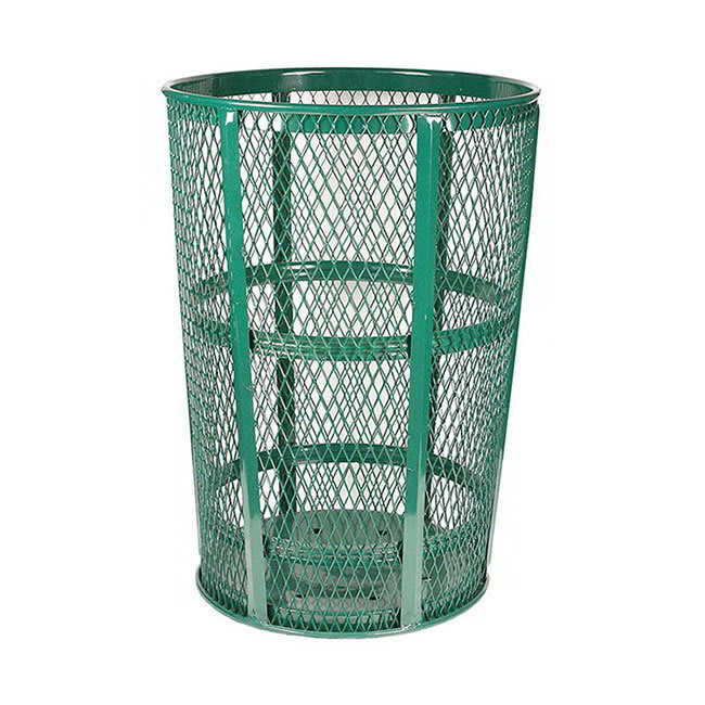 Witt EXP-52GN 48 Gallon Outdoor Trash Can w/ See Through Mesh, Green Finish