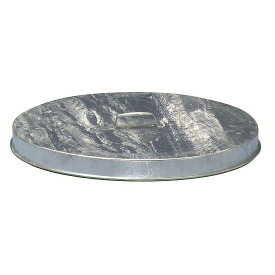 Witt FT256G Round Flat Trash Can Lid - Metal, Galvanized