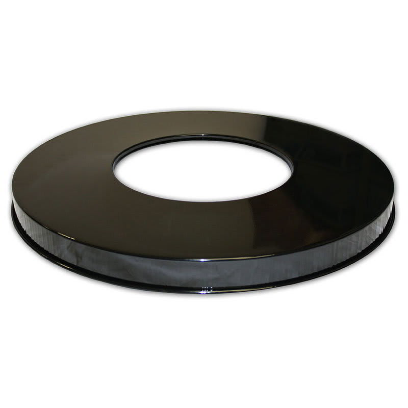 "Witt M3601-FTL-BK 23.75"" Outdoor Flat Top Lid for M3601 Trash Cans, Black"