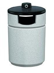 Witt RLC-2038THAB-GR 27-Gallon Outdoor Side Load Trash Can w/ Hide-A-Butt, Graystone
