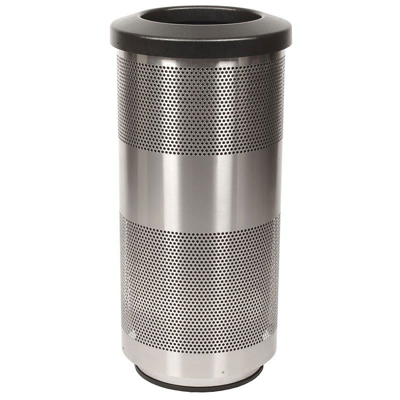 Witt SC20-01-SS 20-gal Indoor Decorative Trash Can - Metal, Stainless Steel