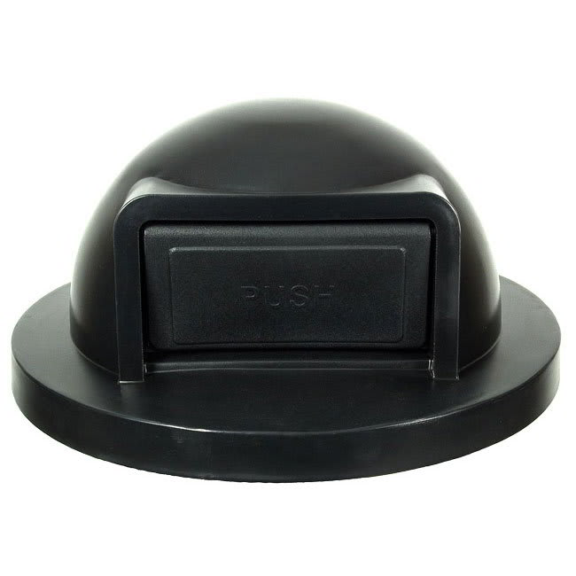 Witt SC55DT Round Dome Trash Can Lid - Plastic, Black