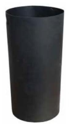 Witt SMB24L 24 gal Round Rigid Trash Can Liner, Plastic - Black