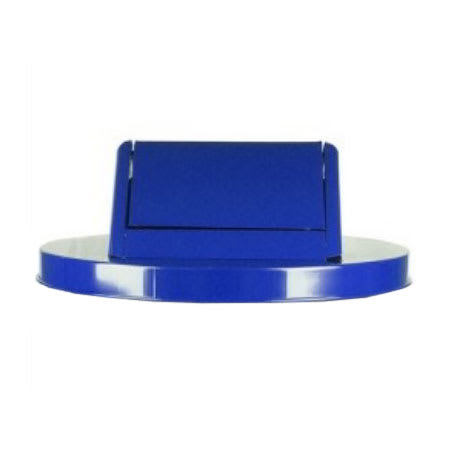 Witt SWT55BL Round Swing Top Trash Can Lid - Metal, Blue