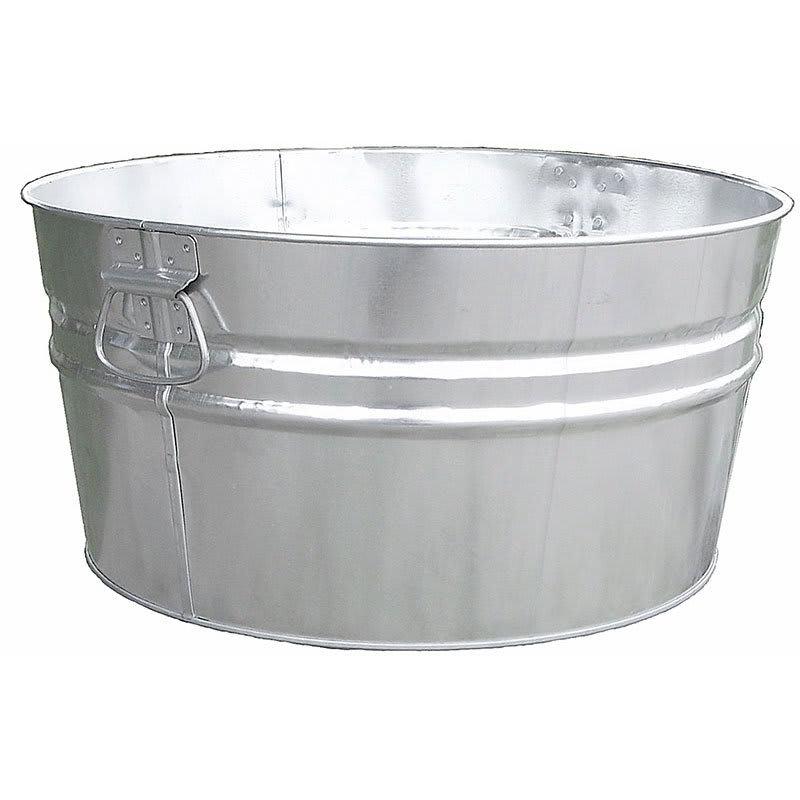 Witt W14200 15-Gallon Outdoor Tub w/ Dual Drop Side Handles, Galvanized Steel