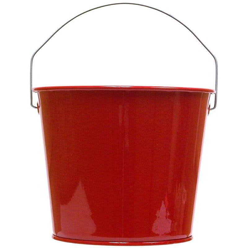 Witt W5PCCAR 5-qt Outdoor Pail w/ Attached Bail, Candy Apple Red