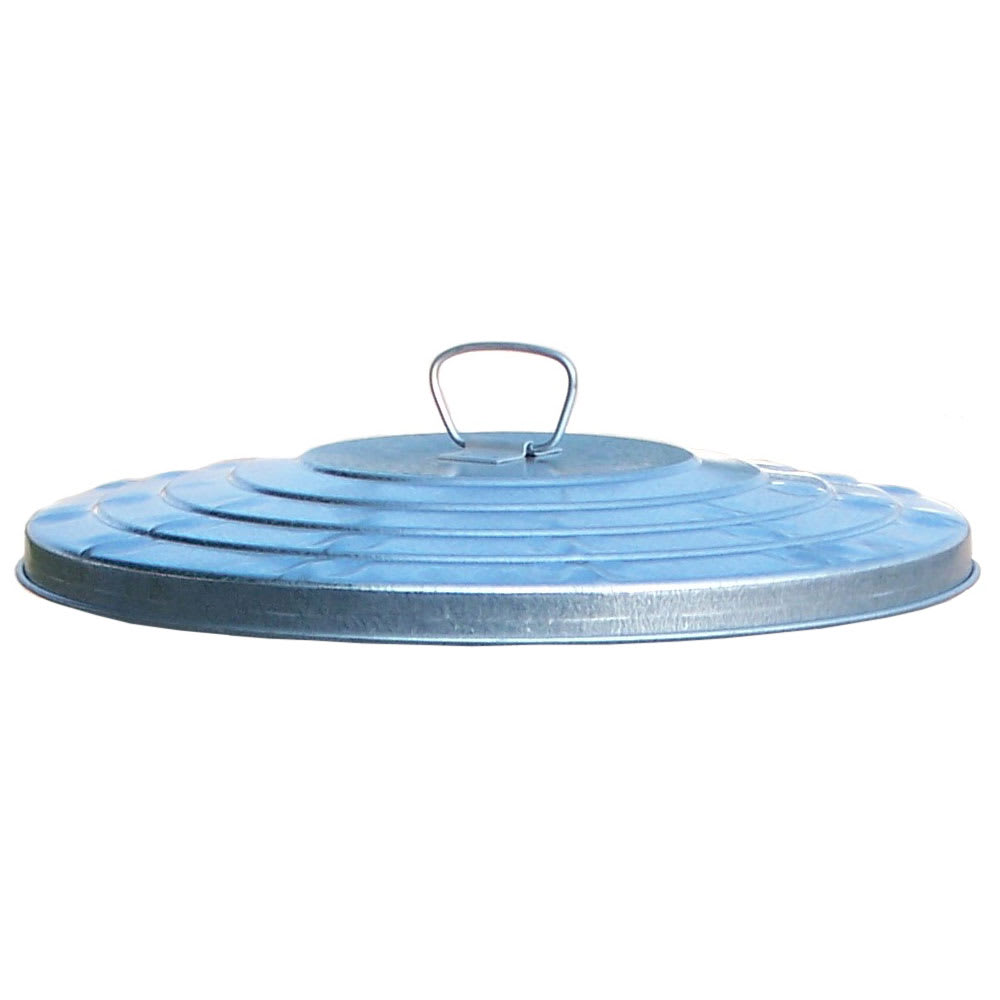 Witt WHD32L Round Flat Top Trash Can Lid - Metal, Galvanized