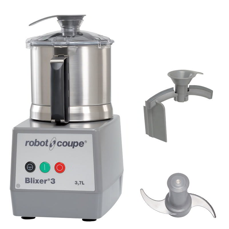 Robot Coupe BLIXER3 Vertical Commercial Blender Mixer w/ 3.5-qt Capacity & 1-Speed, Stainless