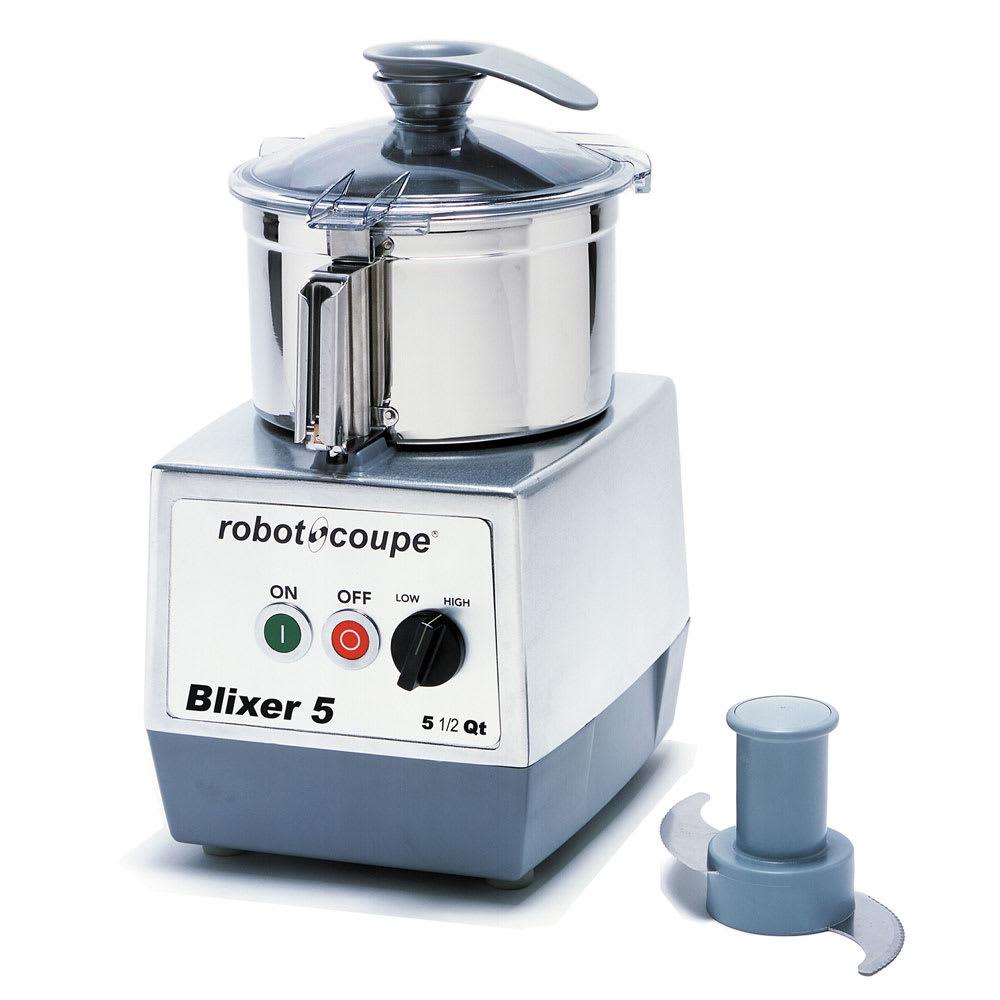 Robot Coupe BLIXER5 Vertical Commercial Blender Mixer w/ 5.5-qt Capacity & 2-Speeds