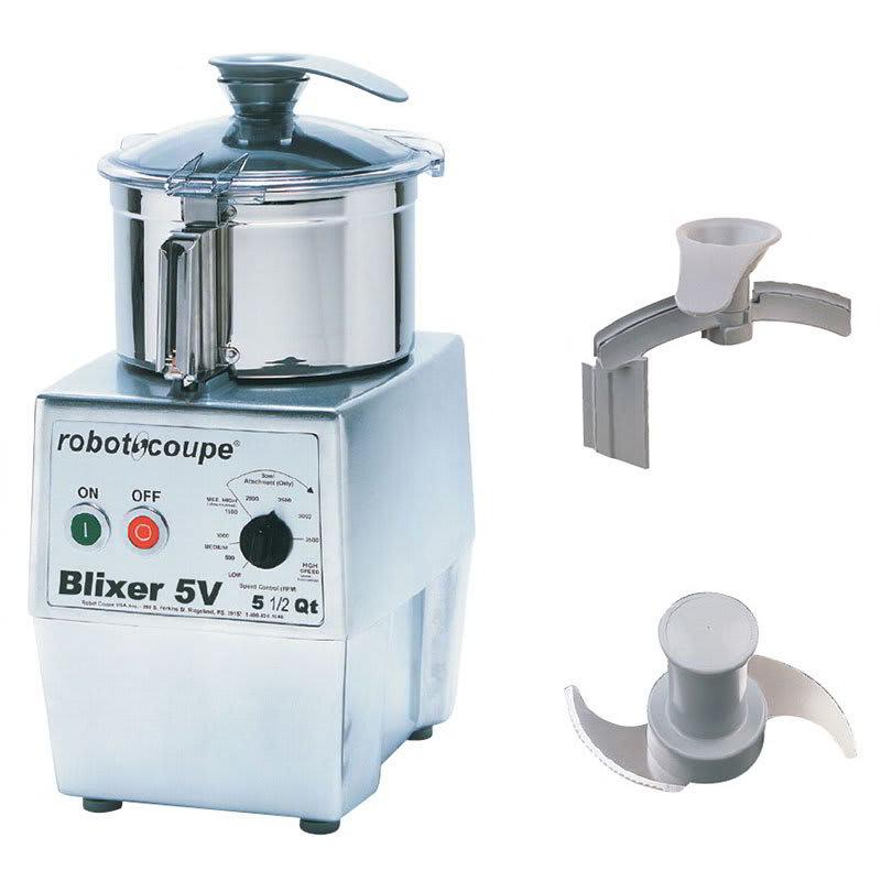 Robot Coupe BLIXER5VV Vertical Commercial Blender Mixer w/ 5.5 qt Capacity & Variable Speeds