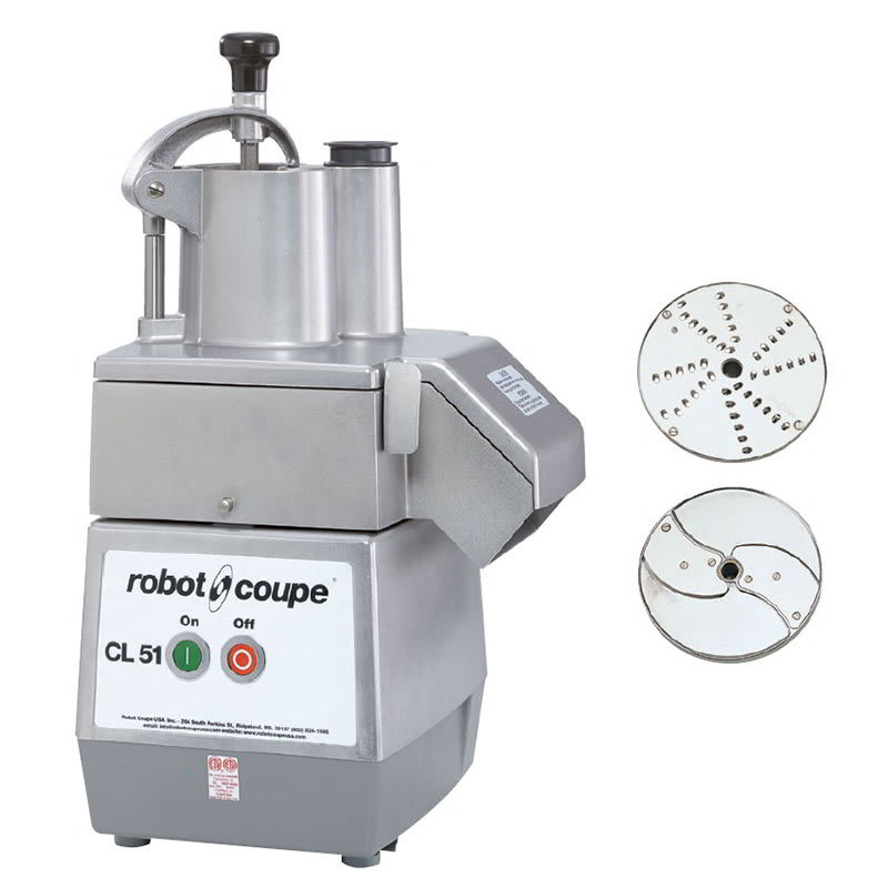 Robot Coupe CL51 1 Speed Cutter Mixer Food Processor w/ Side Discharge, 120v