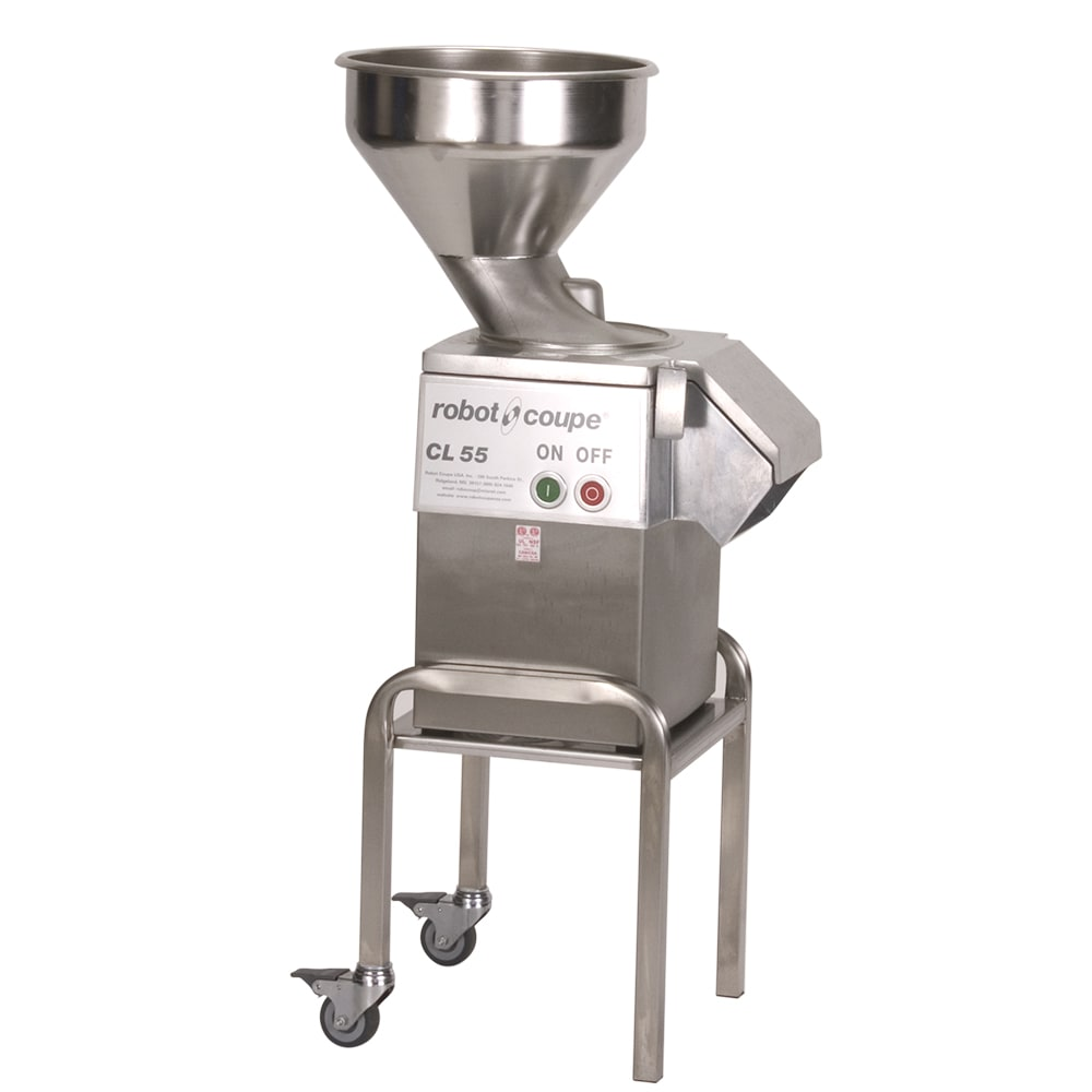 Robot Coupe CL55BULKW/STAND 1 Speed Continuous Feed Food Processor w/ Side Discharge, 120v