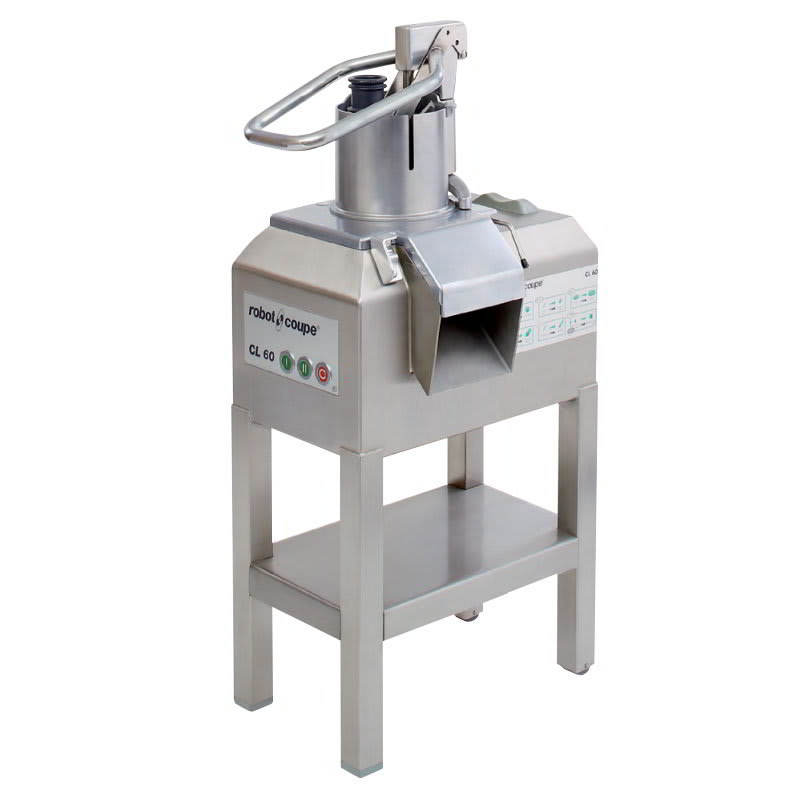 Robot Coupe CL60BULKW/STAND Bulk-D Commercial Food Processor w/ Stainless Bulk Hopper & 2-Speeds