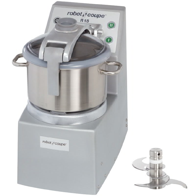 Robot Coupe R15 Vertical Cutter Mixer w/ 15-qt Stainless Bowl & 2-Speedss
