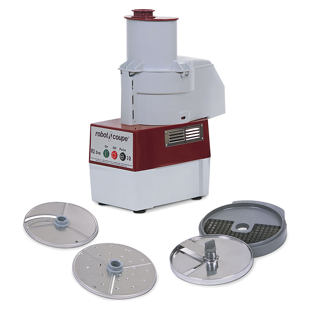 Robot Coupe R2CDICE 1 Speed Continuous Feed Food Processor w/ Side Discharge, 120v