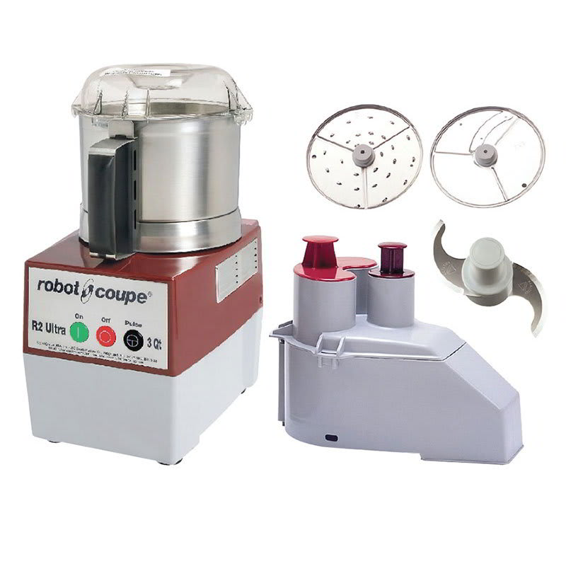 Robot Coupe R2NULTRA 1-Speed Cutter Mixer Food Processor w/ 3-qt Bowl, 120v