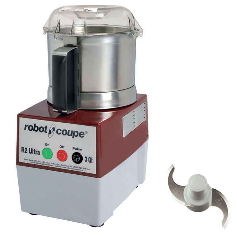 Robot Coupe R2ULTRAB 1-Speed Cutter Mixer Food Processor w/ 3-qt Bowl, 120v