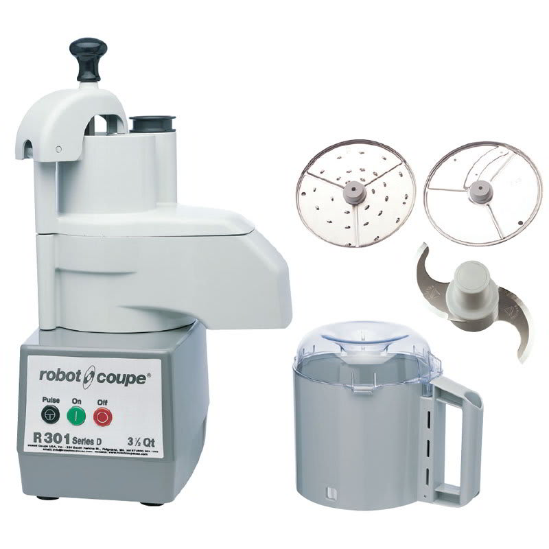 Robot Coupe R301 1 Speed Continuous Feed Food Processor w/ Side Discharge, 120v