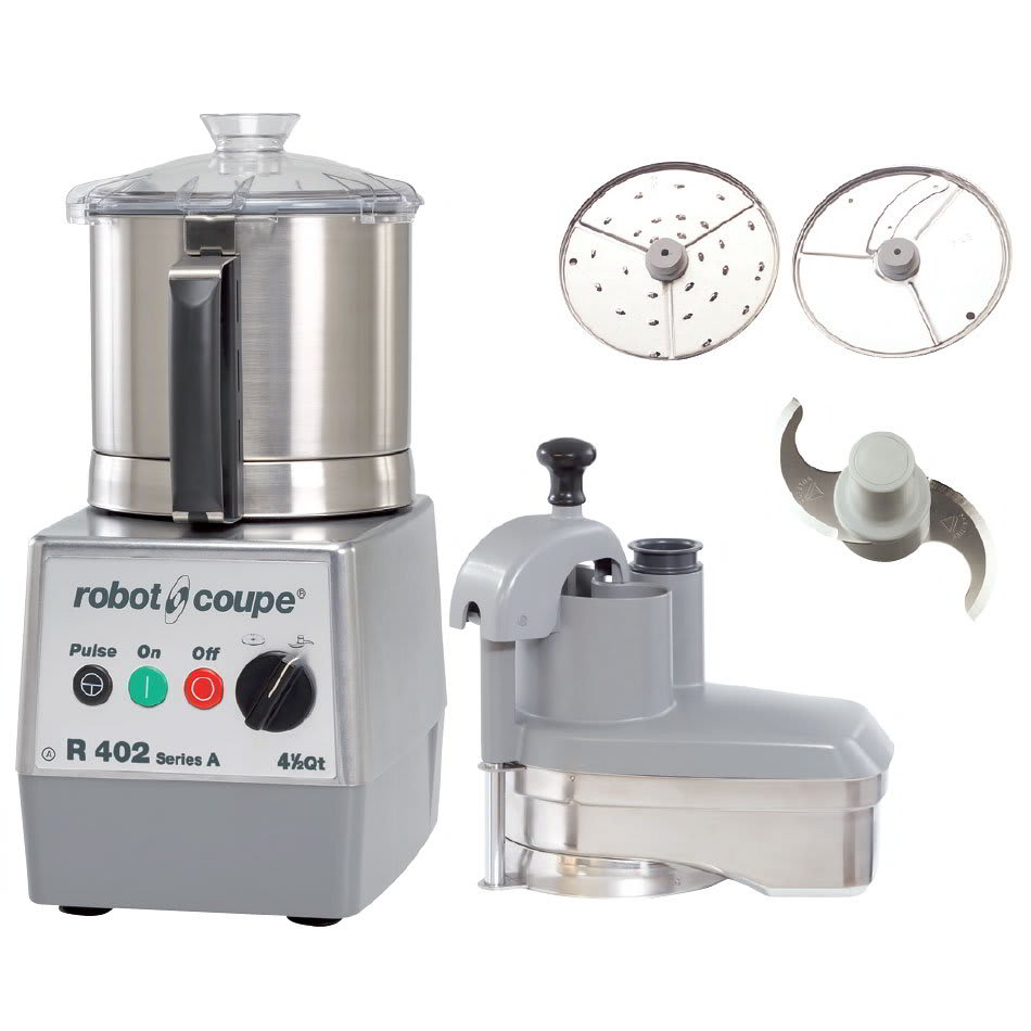 Robot Coupe R402SERIESA 2 Speed Continuous Feed Food Processor w/ 4.5 qt Bowl, 120v