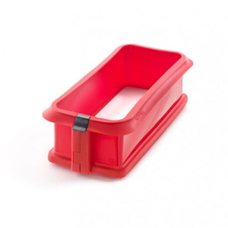 "Lekue 2412324R01M017 10-1/2"" Loaf Springform Pan with Ceramic Plate - Red"