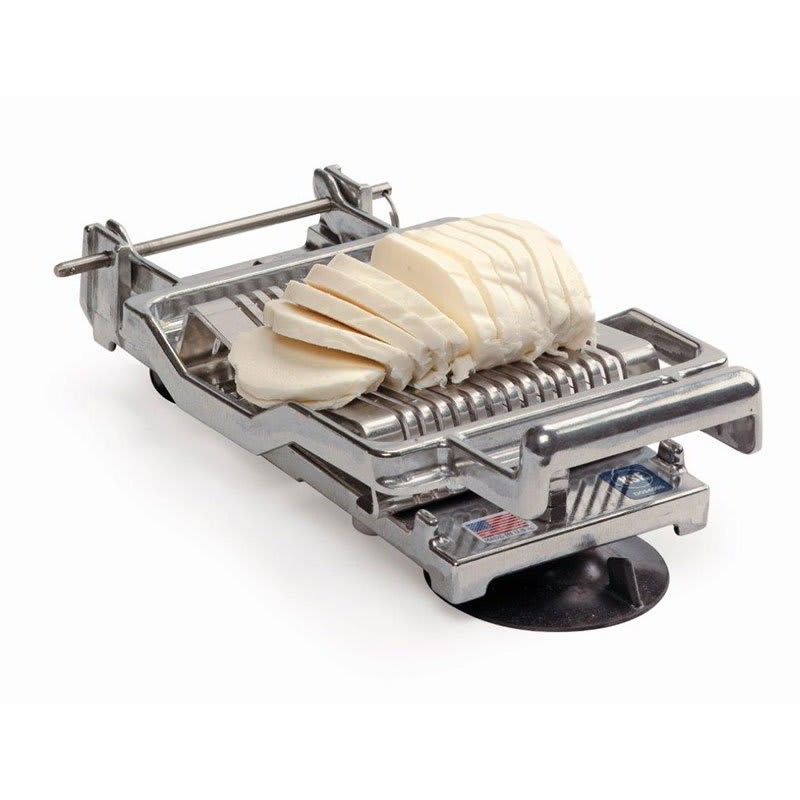 "Nemco 55300A-516D Table Top Mozzarella Slicer w/ .31"" Cutting Arm & Stainless Wires, Cast Aluminum"