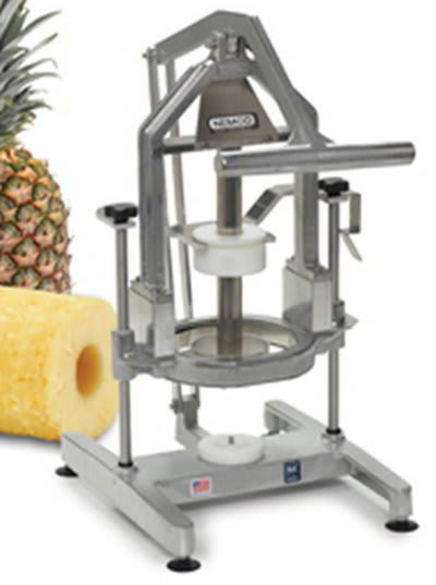 "Nemco 55775-1 Pineapple Corer Peeler w/ 4"" Replaceable Blades, Locking Mechanism & Suction Cups"