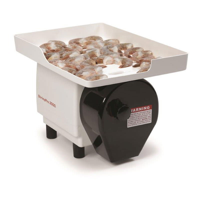 Nemco 55925 Power Shrimp Cutter & Deveiner w/ Feeder Tray, Depth Rollers & Lubricant, 120/1V