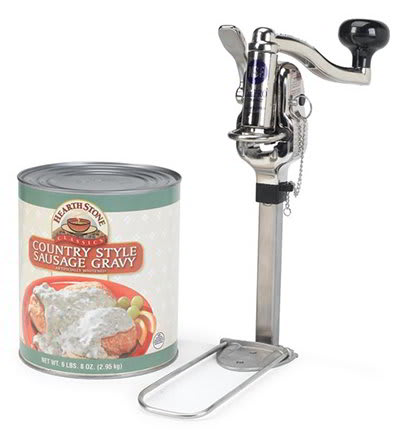 Nemco 56050-1 Compact Permanent Can Opener w/ Gearless Drive 10 Can Capacity Stainless Aluminum
