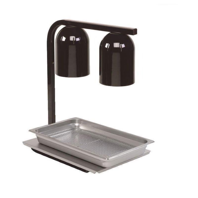Nemco 6000A-2B Freestanding Infrared Heat Lamp w/ 2 Bulbs & Black Finish, 120v