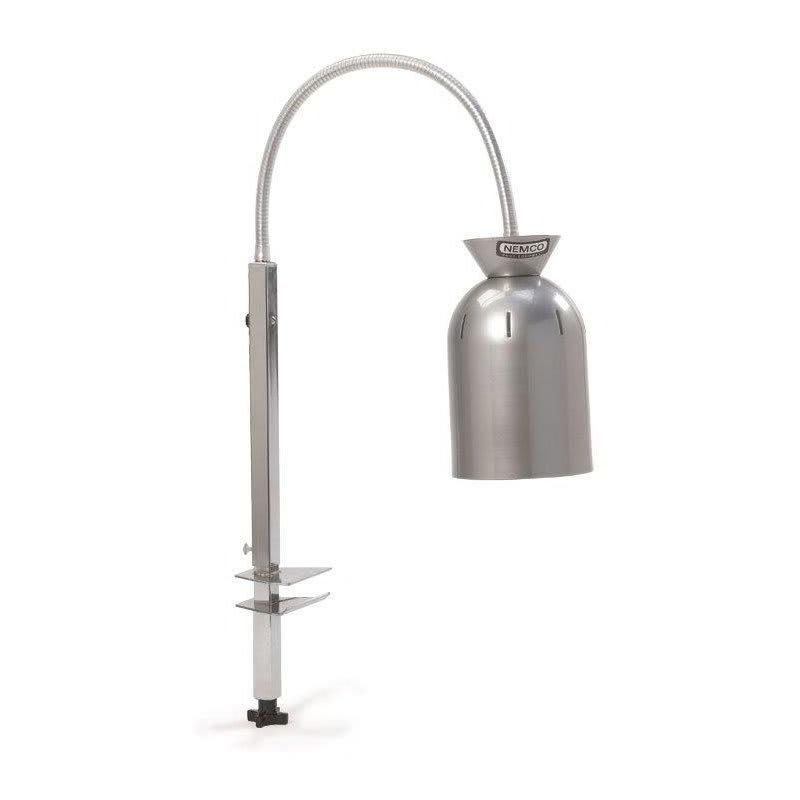 Nemco 6004-4C Heat Lamp w/ 3-ft Adjustable Gooseneck, Single Bulb & Chrome Finish 120v