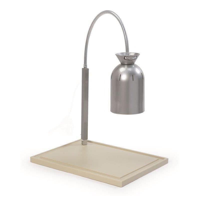 Nemco 6015 Single Bulb Carving Station w/ Flex Mount & Polyethylene Cutting Board, 120v