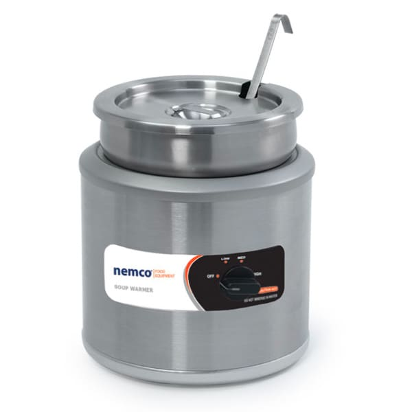 Nemco 6103A-ICL-220 11 qt Countertop Soup Warmer w/ Thermostatic Controls, 220v/1ph