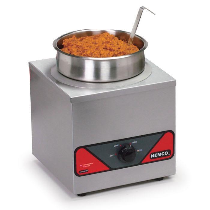 Nemco 6110A-220 4 qt Countertop Soup Warmer w/ Thermostatic Controls, 220v/1ph