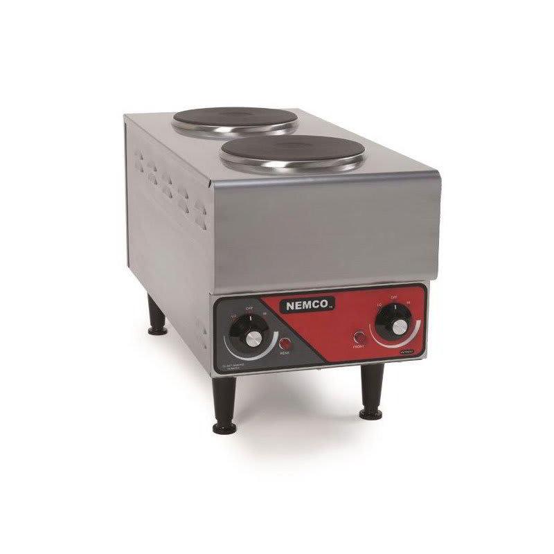 "Nemco 6311-1-240 11"" Electric Hotplate w/ (2) Burners & Infinite Controls, 240v/1ph"