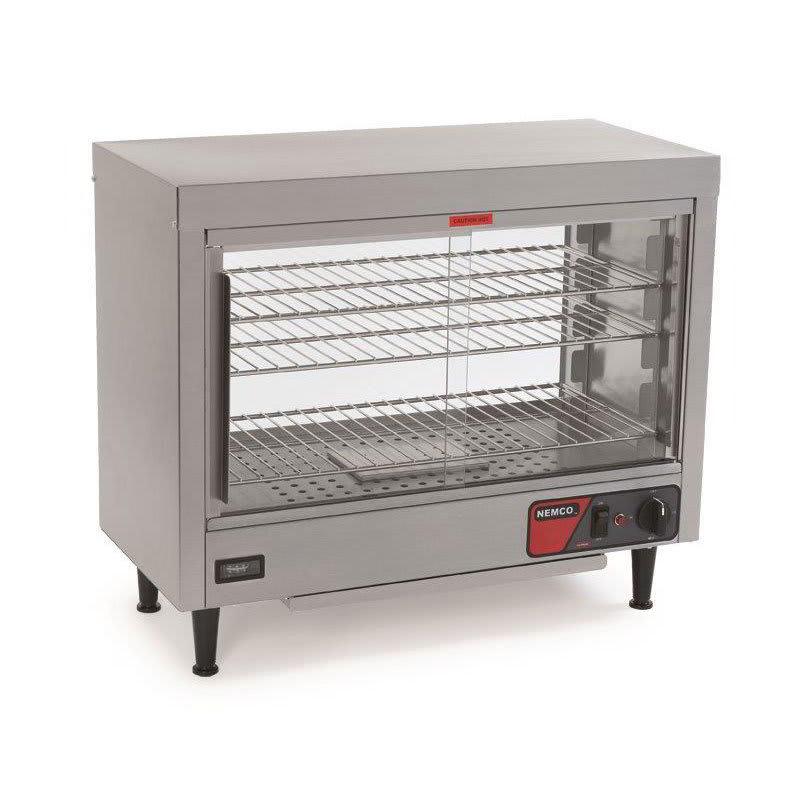 "Nemco 6460 28.13"" Full-Service Countertop Heated Display Case - (3) Shelves, 120v"