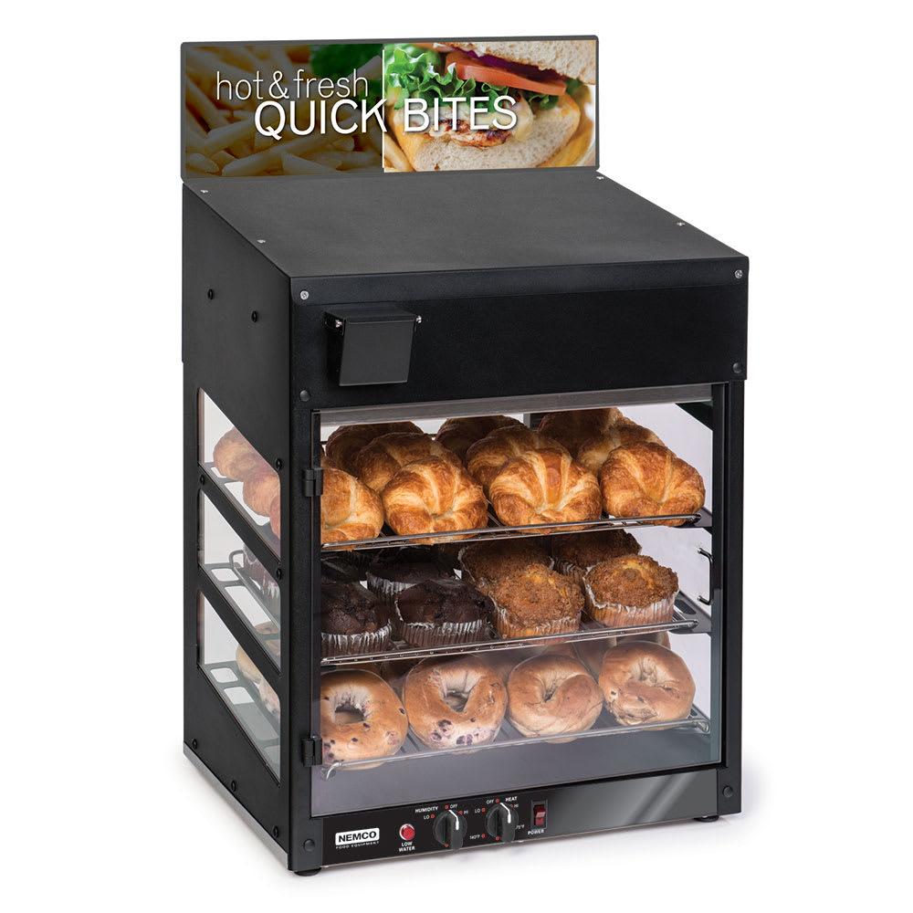"""Nemco 6475 120V 20"""" Full-Service Countertop Heated Display Case - (3) Shelves, 120v"""