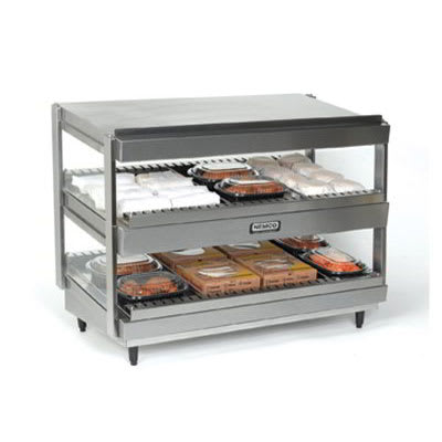 "Nemco 6480-30S 30"" Self-Service Countertop Heated Display Shelf - (2) Shelves, 120v"