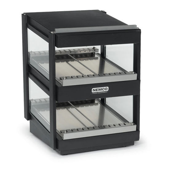 "Nemco 6480-36S-B 36"" Self-Service Countertop Heated Display Shelf - (2) Shelves, 120v"