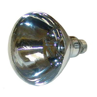 Nemco 66118 Shatter Resistant Heat Lamp Bulb, 250 Watt, Clear